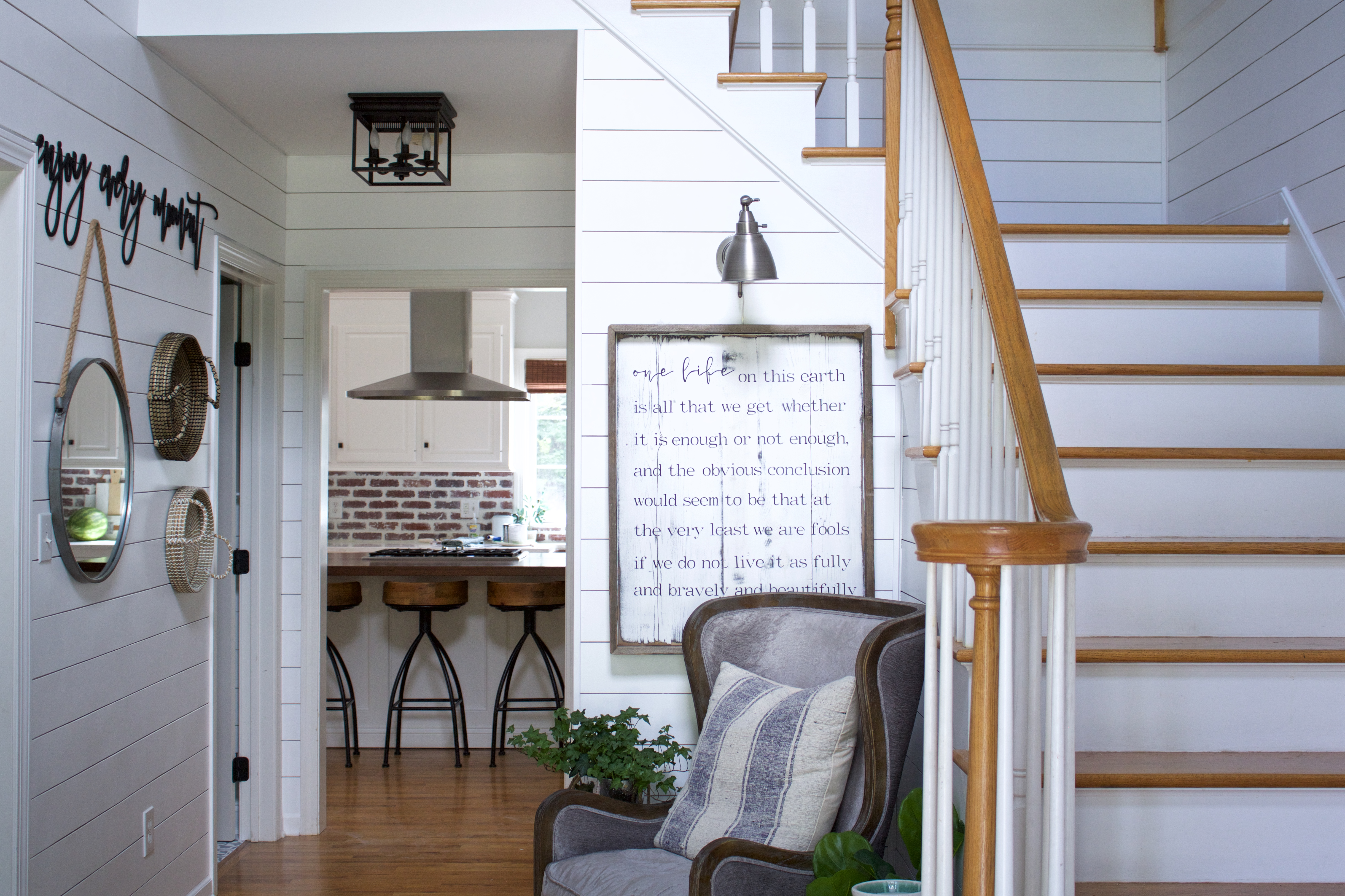 Faux Shiplap⎜The Budget Friendly Way - At Home on Beech Tree